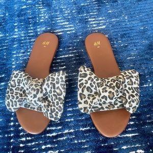 H&M Leopard Sandals size 40